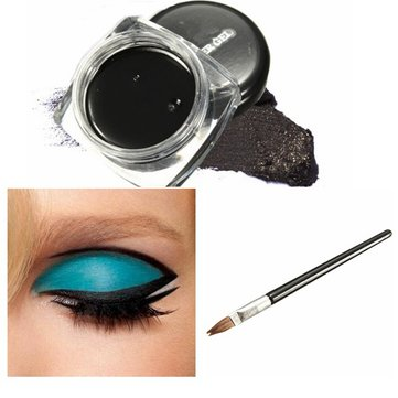 Waterproof Black Makeup Eyeliner Gel Cosmetic Eye Liner Brush