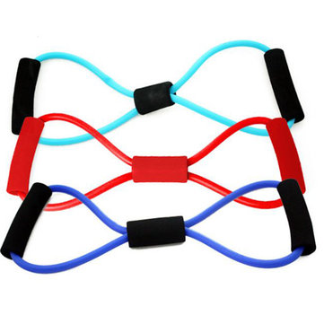 Yoga 8-shaped Resistance Band Tube Body Building Fitness Exercise Tool