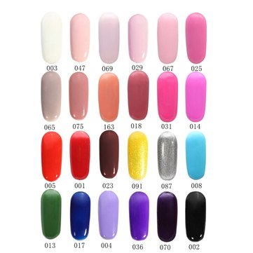 24 Colors 6ML Blue And White Porcelain Soak Off UV Gel Nail Art Polish