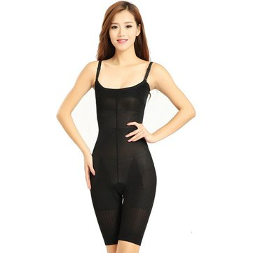 Black Women Slimming Pants With Straps Body Shapers Jumpsuits