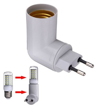 PBT PP To E27 Base LED Light Lamp Holder Bulb Adapter Converter Socket
