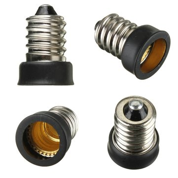 E14 to E12 Base LED Light Bulb Lamp Adapter Holder Socket Converter