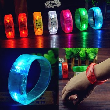 Voice Control LED Light Glows Wristbands Bracelet Bangle Party Concert Decorations