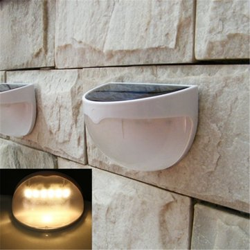 6 LED Solar Powered Waterproof Outdoor Garden Path Fence Wall Lamp