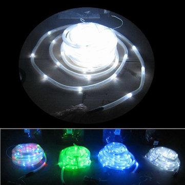 Solar Powered Colorful Tube LED String Light For Garden Fairy Party