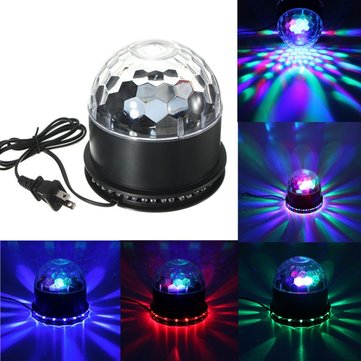 48 LED RGB Voice Activated Crystal Magic Ball Effect Stage Lighting KTV Club Disco Party