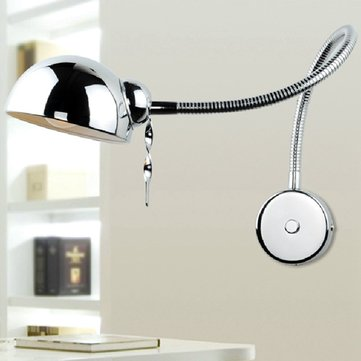 Modern Swing Arm Wall Lamp Flexible Mirror Bedroom Light