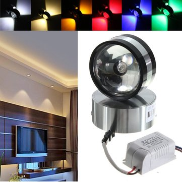 Modern Aluminum 2W LED Wall Lamp Light Crystal Ball Shape Indoor Room for Lighting