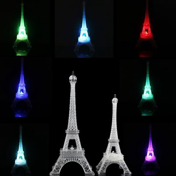 Romantic Eiffel Tower Desk Bedroom Night Light Decoration Baby Table LED Lamp