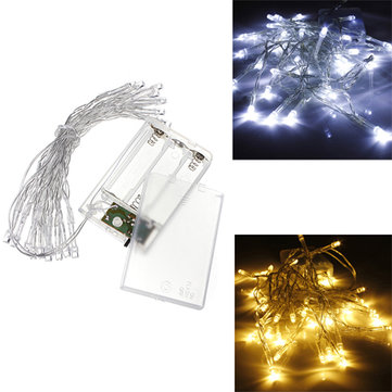 aa battery mini 20 leds coolwarm white christmas string fairy lights