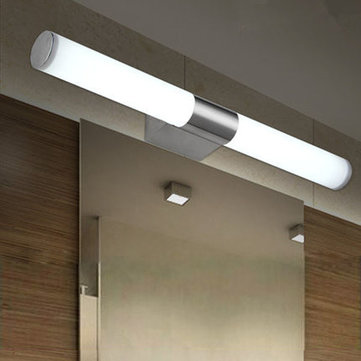 10w brief tube stainless steel led wall light bathroom mirror lamp 10w brief tube stainless steel led wall light bathroom mirror lamp aloadofball Gallery