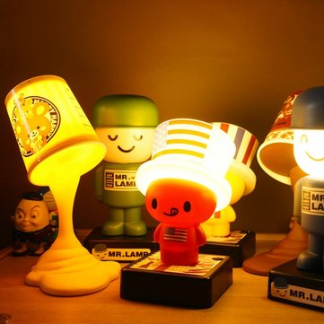 Colorful USB Battery Powered Dual Use Cute LED Cap Night Light for Home Decoration