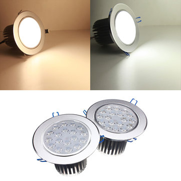 18W Bright LED Recessed Ceiling Down Light 85-265V + Driver
