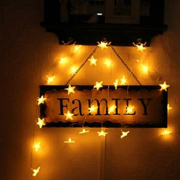 LED Star light String Battery Operated Wedding Home Decoration Lamp