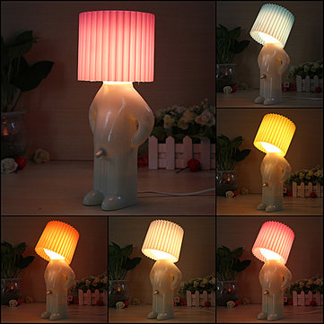 Novelty Naughty Little Boy Art Table Desktop Night Light Reading Lamp