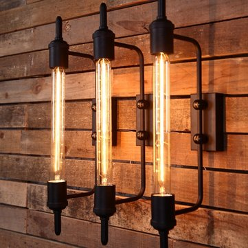 Rust Color American Country Style Rustic Vintage Iron Wall Lamp Fixtures