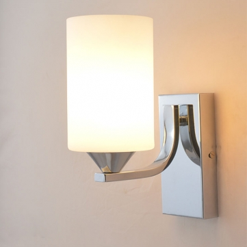 Fashion Simple Sconce Ground Glass Lampshade E27 Wall Lamps