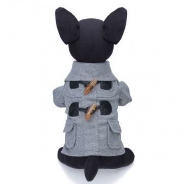 Европейский стиль кнопка звукового сигнала отложной воротник Pet собаки пальто