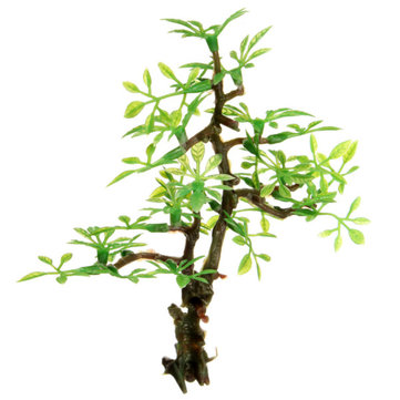 Aquarium Ornament Tree Grass Plastic Fish Tank Decoration