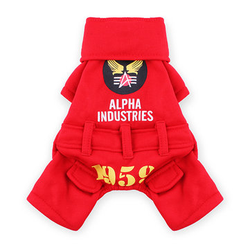 Pet USA Eagle Force Cotton Jumpsuit Clothes Costume Winter