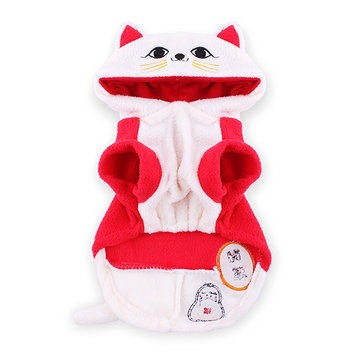 Pet Dog Clothes Traditional Chinese Lucky Cat Letter Printing Coat