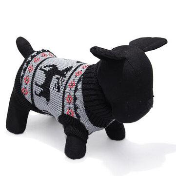 Cane cervi pet maglione lavorato a maglia traspirante abbigliamento outwear