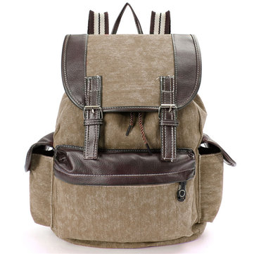 Women Men Canvas Backpack Casual Outdoor Backpack Rucksack Students School Bags