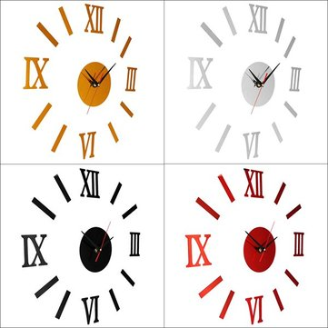 DIY Roman Numeral Clock Kit Black Red Gold Silver