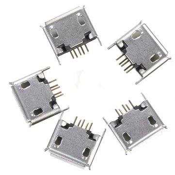 5PCS Micro USB Type A Female DIP 5Pin Socket Soldering Jack Connector