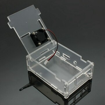 Acrylic Case with Cooling Fan for Raspberry Pi Model B+