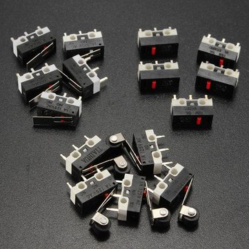 Buy 5Pcs AC 125V 1A Mini SPDT Micro Switch Long Hinge Roller for $1.12 in Banggood store