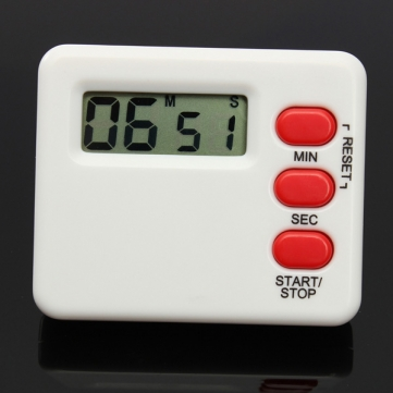 Mini LCD Kitchen Timer Count-downn Digital Display 99 Minutes