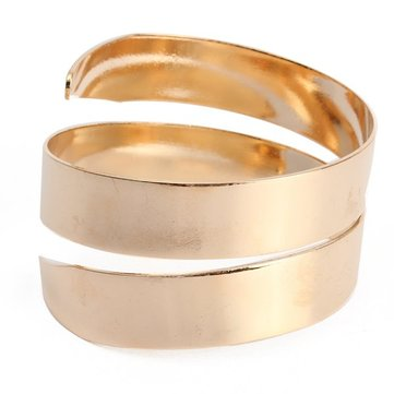 Gold Silver Cuff Upper Arm Bracelet Bangle For Women