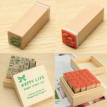 Rubber Wooden Stamp