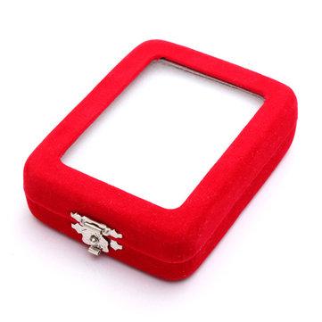 Collier de velours rouge pendentif jade boîte à bijoux étui à présentoir