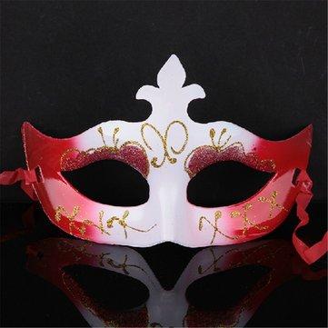 Multicolor Halloween Props Gold Dust Masquerade Маска