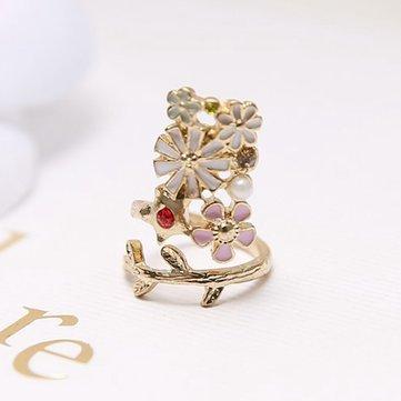 Gold Plated Women Jewelry Flower Cute