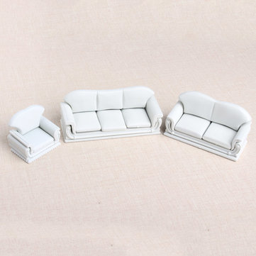 The Model Material Indoor Scene Decoration ABS Sofa Set 1:30