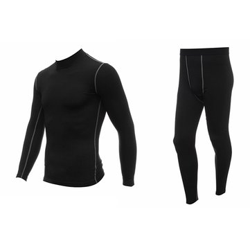 L Size Mens Riding Sports Thermal Underwear Jacket and Pants