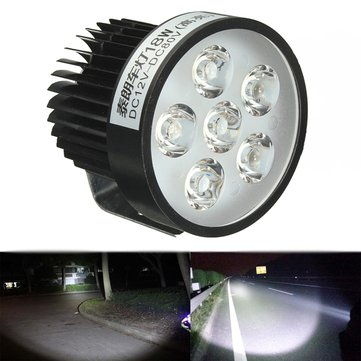 12V 18W Motorcycle LED Headlight Driving Spot Lightt Fog Lamp