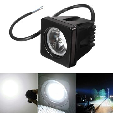 10W 6000K LED Work Light Motorcycle Boat ATV SUV Spot Fog Lamp