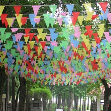 50m Ceremony String Flags Warning Flags Color Pennant Flags M Size