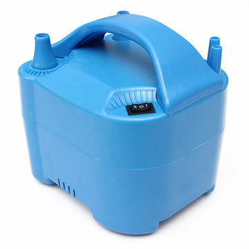 Electric Two Nozzle High Power Ballon Inflator Pump Blue