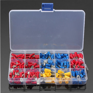 Soloop 280Pcs 2.8-6.3mm Assorted Crimp Spade Insulated Terminal Connectors