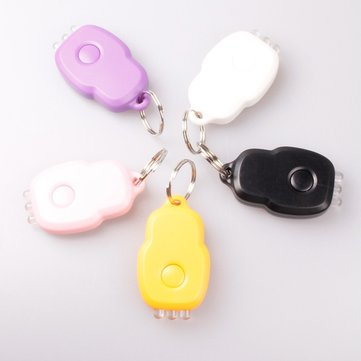 3 LED Purple Light Portable Laser Keychain Light Five-Color