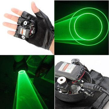 Gloves Double Green Swirl Laser Glove 523nm Built-in Battery