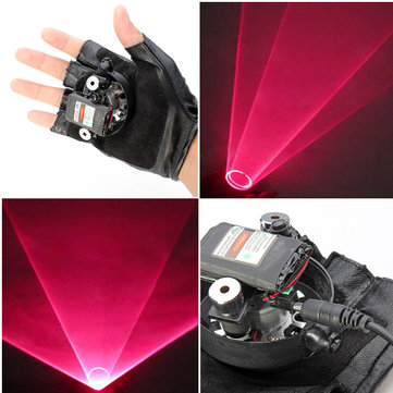 XANES LG03 Laser Glove Double Red Swirl Laser Pointer 650nm Built-in Battery 1mw/5mw