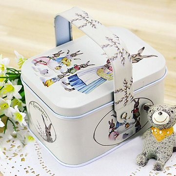Retro Tote Jewelry Box Storage Tea Coffee Candy Container Box Organization