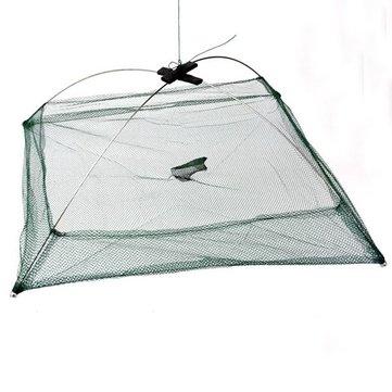 Fishing Foldable Mesh Baits Trap Umbrella Cast Dip Net Crab Shrimp
