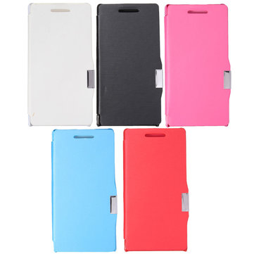 Magnetic Flip PU Leather+PC Hard Case For Huawei Ascend P6